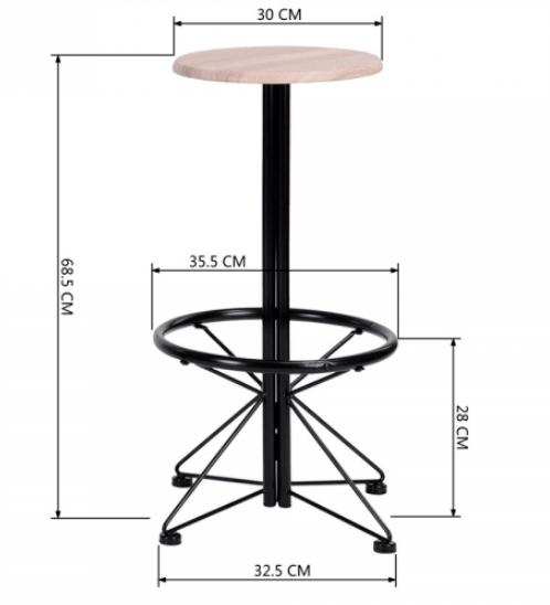 Delicato ชุดโต๊ะบาร์สตูล  ประกอบด้วยโต๊ะ 1 ตัวเก้าอี้ 2 ตัว  LIFE