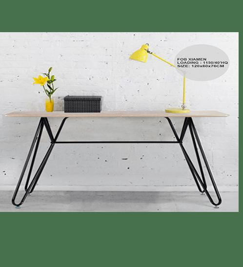 Pulito โต๊ะทำงาน  ขนาด 120x60x75 ซม. WILS CPU สีบีช