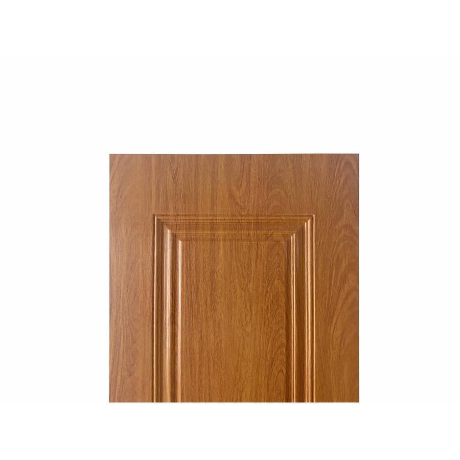 WELLINGTAN ประตูยูพีวีซี บานทึบ 2ฟักตรง ขนาด 80x200ซม. UPVC-W701 YELLOW CHERRY