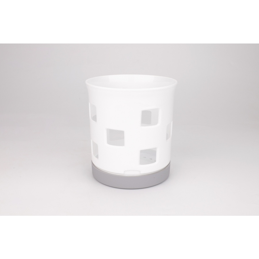 GOME ที่ใส่ช้อนส้อมพลาสติก ขนาด 14.5x15.5ซม.  Pro Kitch07 สีขาว