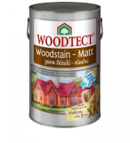 WOODTECT วูดเทค สีย้อมไม้ สูตรน้ำมัน (ชนิดด้าน) (กล.) WM-604 สีไม้มะค่า