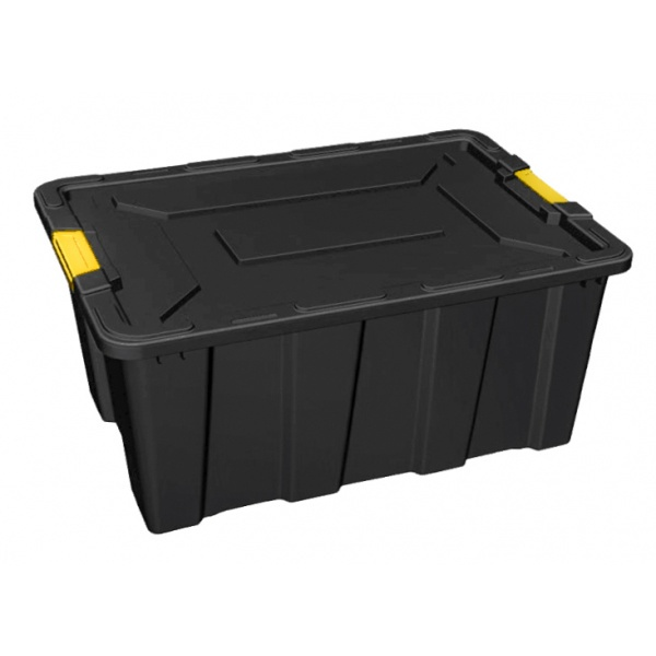 GOME กล่องเก็บของหูล็อค HEAVY 100 ลิตร ขนาด 79x51x37 ซม. TG59809 สีดำ/เหลือง