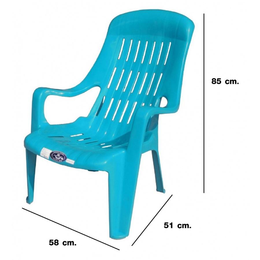 FREEZETO เก้าอี้พลาสสติกเอนนอน สุขสบาย FT-234/A สีฟ้า
