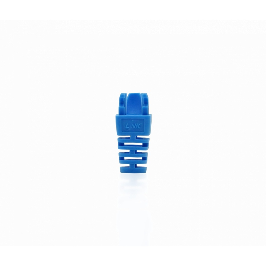 LINK ปลอกหุ้มตัวผู้แลน CAT 5E( 10 ea./ PKG )  US-6514 สีฟ้า