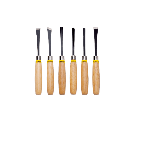 STANLEY ชุดสิ่วไม้ 6 ชิ้น STHT16120-8  สีเหลือง