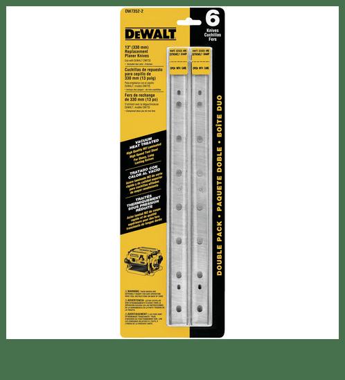 DeWALT  ใบมีดเครื่องรีดไม้ 13นิ้ว  (3ใบ/ชุด)  DW7352 สีเหลือง