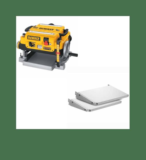 DeWALT ถาดรับชิ้นงาน สำหรับเครื่องรีดไม้  DW7351 สีเหลือง