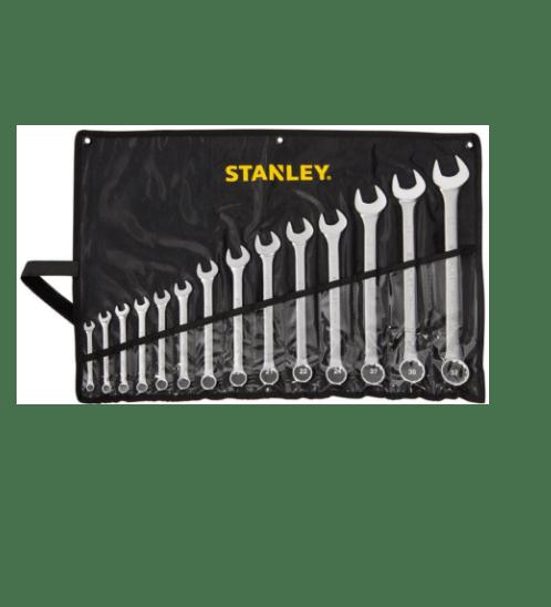 STANLEY ชุดประแจแหวนข้าง ปากตาย 14 ชิ้น  -ซองผ้าสีดำ  STMT80946-8 สีโครเมี่ยม