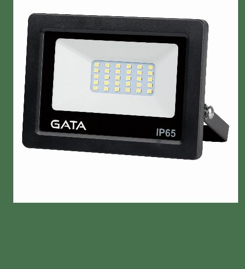 GATA โคมฟลัดไลท์ แอลอีดี 20วัตต์  วอมม์ (สว่างพิเศษ) - สีดำ