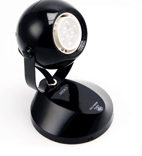 GATA โคมLED ทรงกลม 5W Tracklight (TL04)ฐานกลมแบน 5W. Warm สีดำ