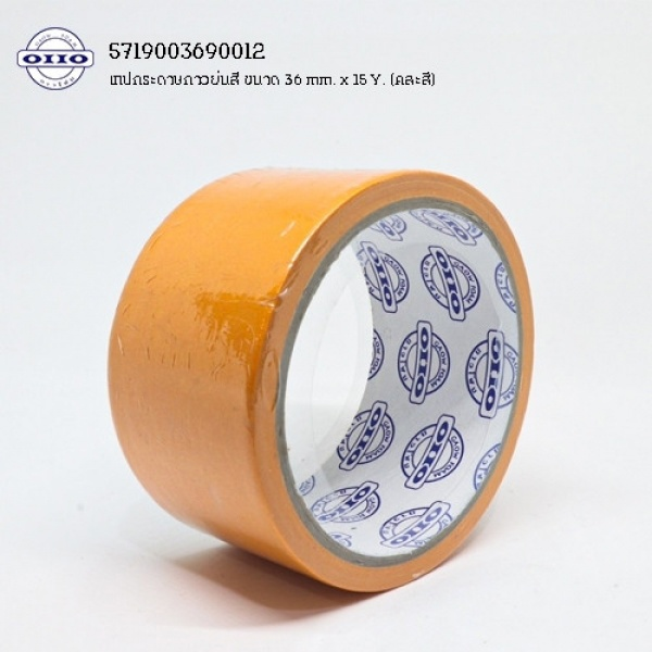 OHO เทปกระดาษกาวย่นสี 48มม.x15หลา GF-MC