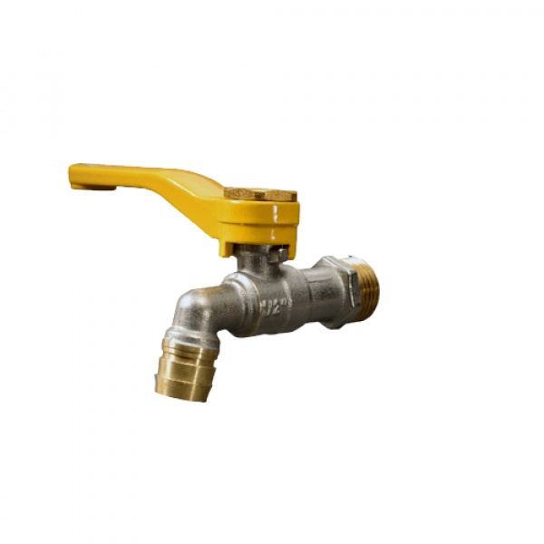 PP ก๊อกน้ำทองเหลือง(บ้าน) 1/2นิ้ว ด้ามจับ สีเหลือง