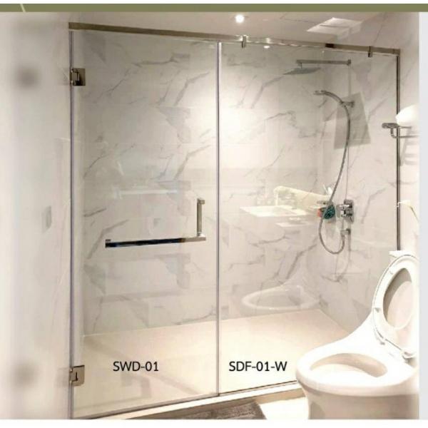 WS ฉากกั้นอาบน้ำบานสวิง  SWD-01/5 WS.