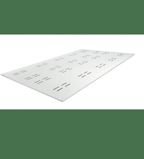 ตราเพชร บอร์ดฝ้าระบายอากาศ เพชร  0.4X60X120ซม.  ลายไม้ รูแคปซูล สีขาว