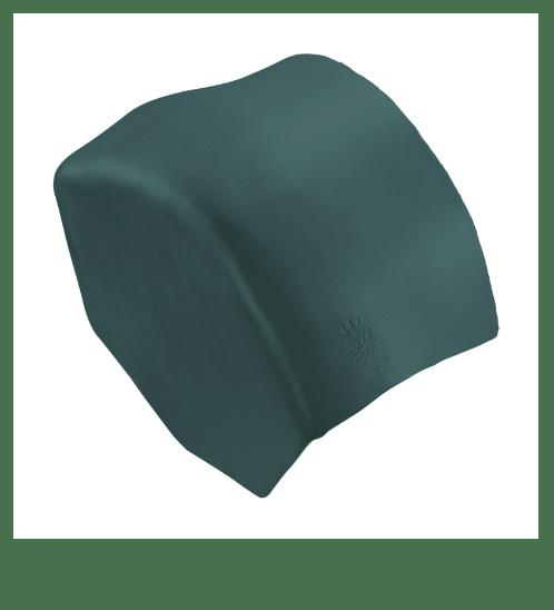 ตราเพชร ครอบปิดจั่วสันโค้ง กระเบื้องลอนคู่ ขนาด 27.5x15.5 ซม. สีเขียวสดชื่น