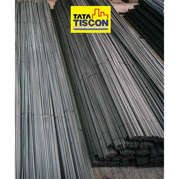 TATA TISCON เหล็กเส้นกลม-ตรง 15 มม. ยาว 10 เมตร SR24 มอก. สีดำ
