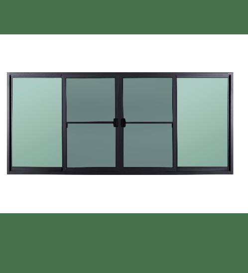 A-Plus  หน้าต่างบานเลื่อนเปิดกลาง ขนาด  2.70 m. x 1.30 m. มีมุ้ง  SAHARA