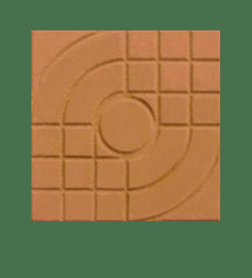 Dura one ซีเมนต์ตกแต่งพื้น ขนาด 40x40x3.5 ลายสานเส้น  Dura oneOne Pavement ส้ม