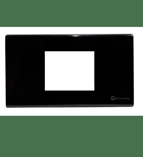 Gpower  ฝาหน้ากากพลาสติก 2 ช่องกลาง  2x4  A-1022B สีดำ