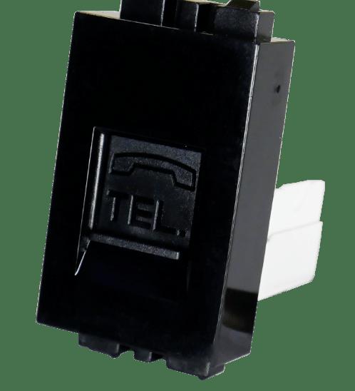 Gpower เต้ารับโทรศัพท์ TEL-1B สีดำ