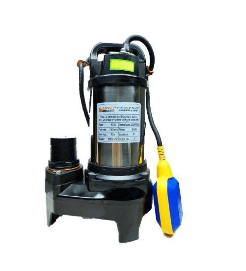 SUMOTO POMPA SUMOTO POMPA ปั๊มจุ่มน้ำสะอาด และน้ำเค็ม 250 วัตต์พร้อมลูกลอย, INOX250F  INOX250F สีโครเมี่ยม