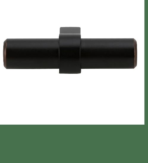 HAFELE ปุ่มจับเฟอร์นิเจอร์ซิงค์อัลลอยด์ ขนาด 60x33 มม.  สีดำอมน้ำตาล 481.01.433 สีดำ