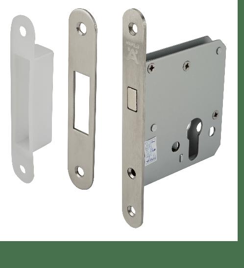HAFELE ชุดตลับกุญแจประตูบานเลื่อนห้องน้ำ สแตนเลส 499.65.030