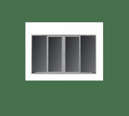 RKT หน้าต่างไวนิลบานเลื่อนกระจกดำ 240x110ซม. RKT