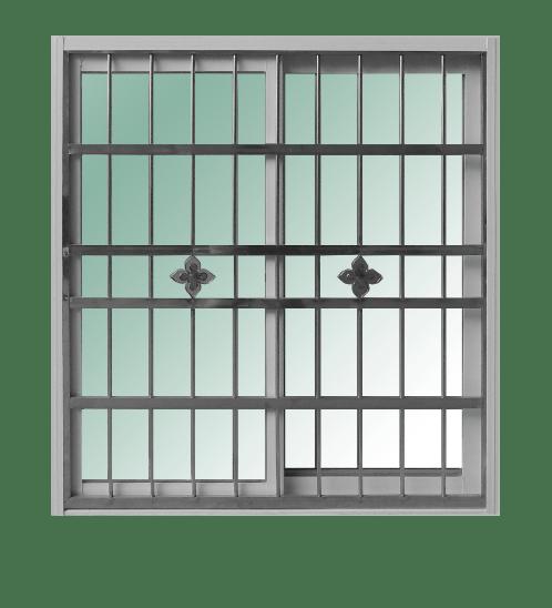 RAKANGTHONG หน้าต่างอลูมิเนียมบานเลื่อน100x110cm.  พร้อมสแตนเลสดัด WINKING  SS สีขาว