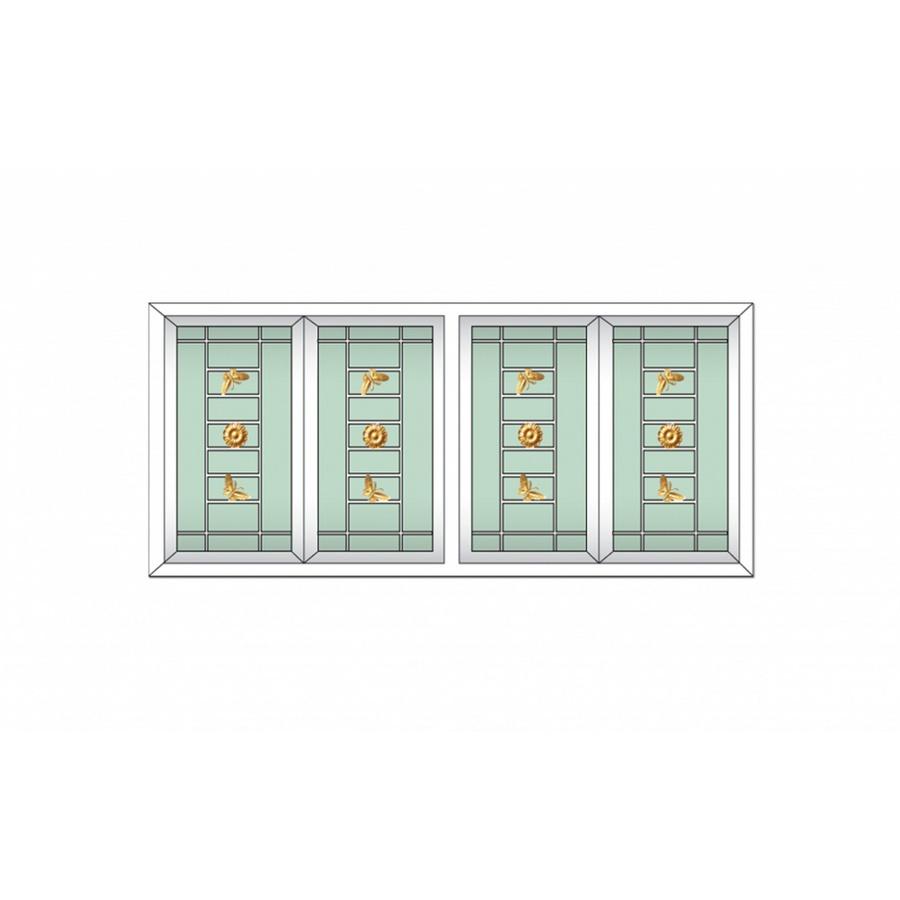 RAKANGTHONG หน้าต่างไวนิลบานเลื่อน ขนาด  180cm.x110cm. พร้อมเหล็กดัด+กระจก2ชั้น RAKANGTHONG FSSF WGIA4-180-110 สีขาว