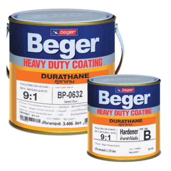 Beger สีทาทับหน้าภายนอก  BP-0640 ดูราเทน (Fiesta Blue) ชุด กล.