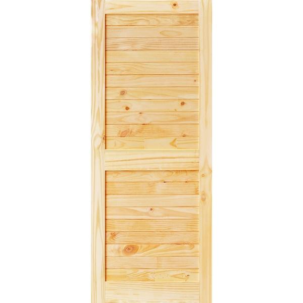 D2D ประตูไม้สนNz บานทึบเซาะร่อง ขนาด 70x180ซม. Eco-Ezero26