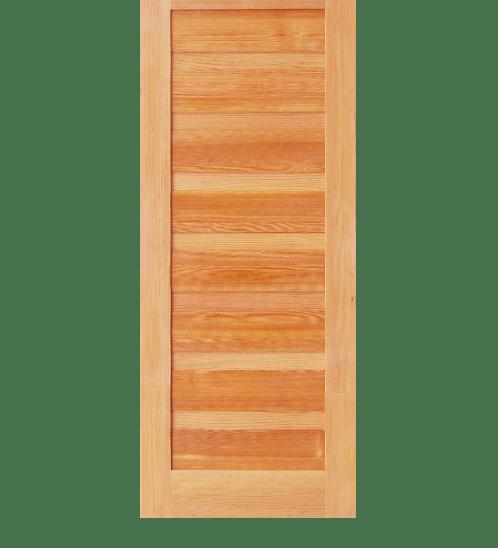 D2D ประตูไม้ดักลาสเฟอร์ บานทึบ ทำร่อง ขนาด70x200ซม. Eco Pine-050 ไม้ธรรมชาติ