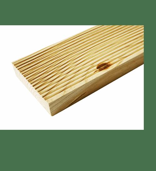 - ไม้พื้นระเบียง ChaleT SYP อบ10-12%+อัดน้ำยา Premium  ขนาด  (1.5นิ้วx8นิ้วx2.44ม.)
