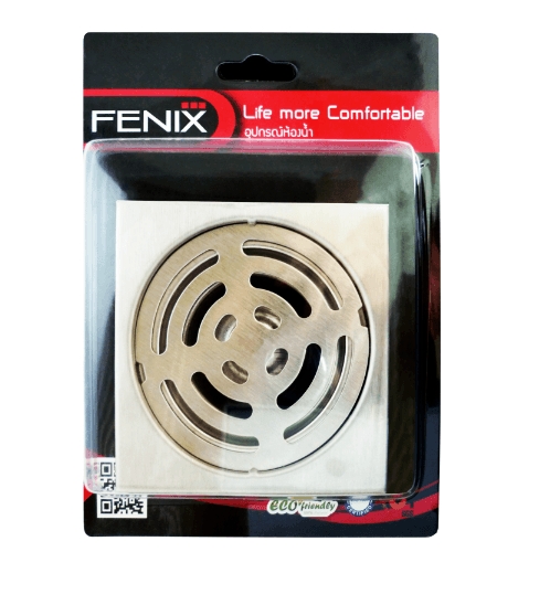 FENIX ตะแกรงกันกลิ่นสเตนเลส ขนาดท่อ 2-2.5' FN-1012 สีโครเมี่ยม