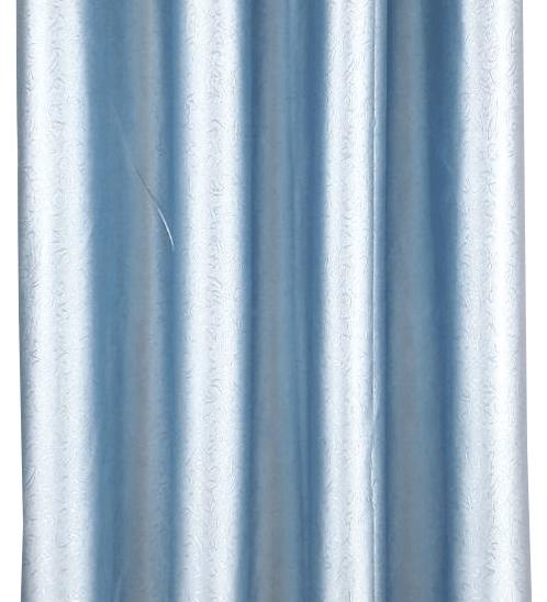 Davinci ม่านหน้าต่างตาไก่ ขนาด 150x160 ซม. 7701-2  W สีฟ้า