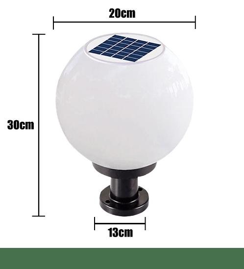 STAR โคมไฟหัวเสาโซลาเซลส์ ปรับได้ 2 แสง ในโคมเดียว ใช้ไฟได้ 2 ระบบ SR-X70