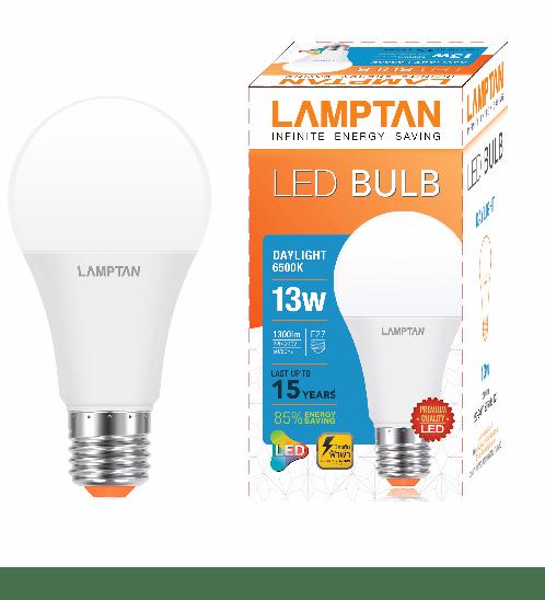 LAMPTAN หลอด 13w แสงเดย์ไลท์ LED bulb