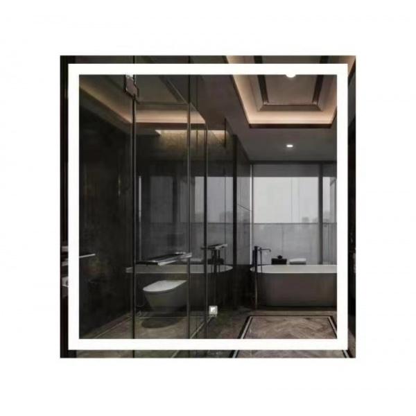 NICE กระจกเงาแบบมีไฟ LED ขนาด 80x80 cm. LG002