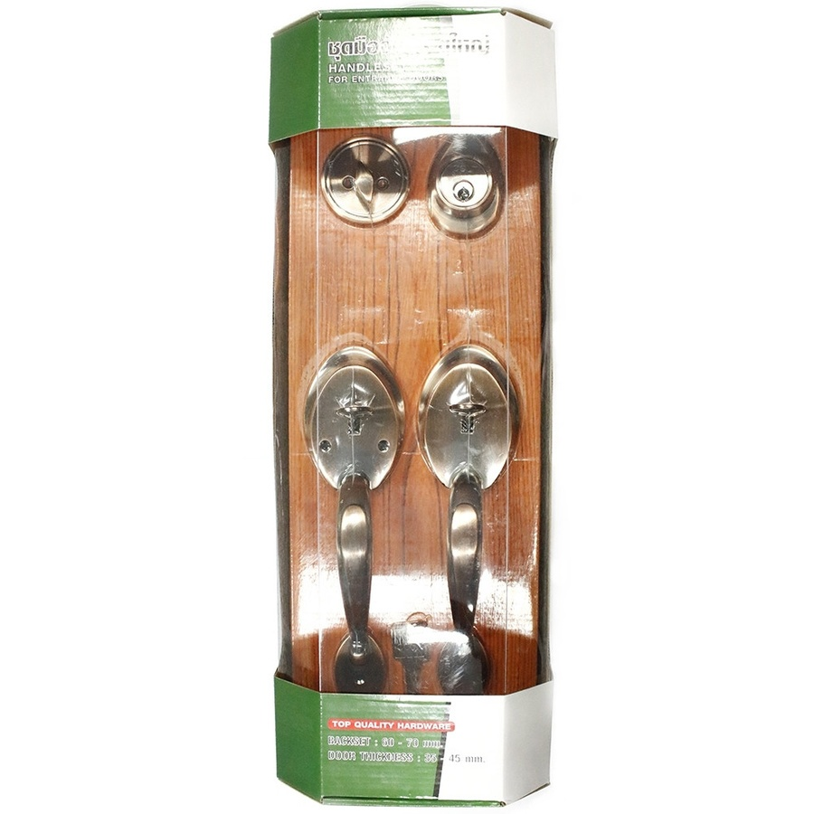 COLT ชุดมือจับประตูใหญ่  #6051 มีกุญแจ AC (Double Handle) สีน้ำตาลอ่อน