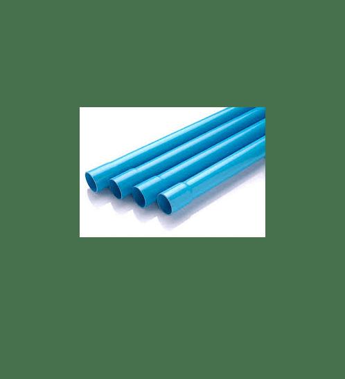 Power Plus ท่อพีวีซี (5) 1.1/4 นิ้ว  บานหัว สีฟ้า