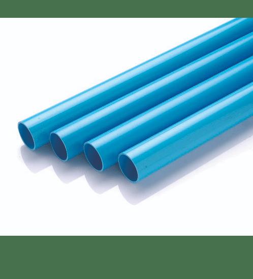 Power Plus  ท่อพีวีซี 1 1/2 นิ้ว ชั้น 8.5  ปลายเรียบ  สีฟ้า