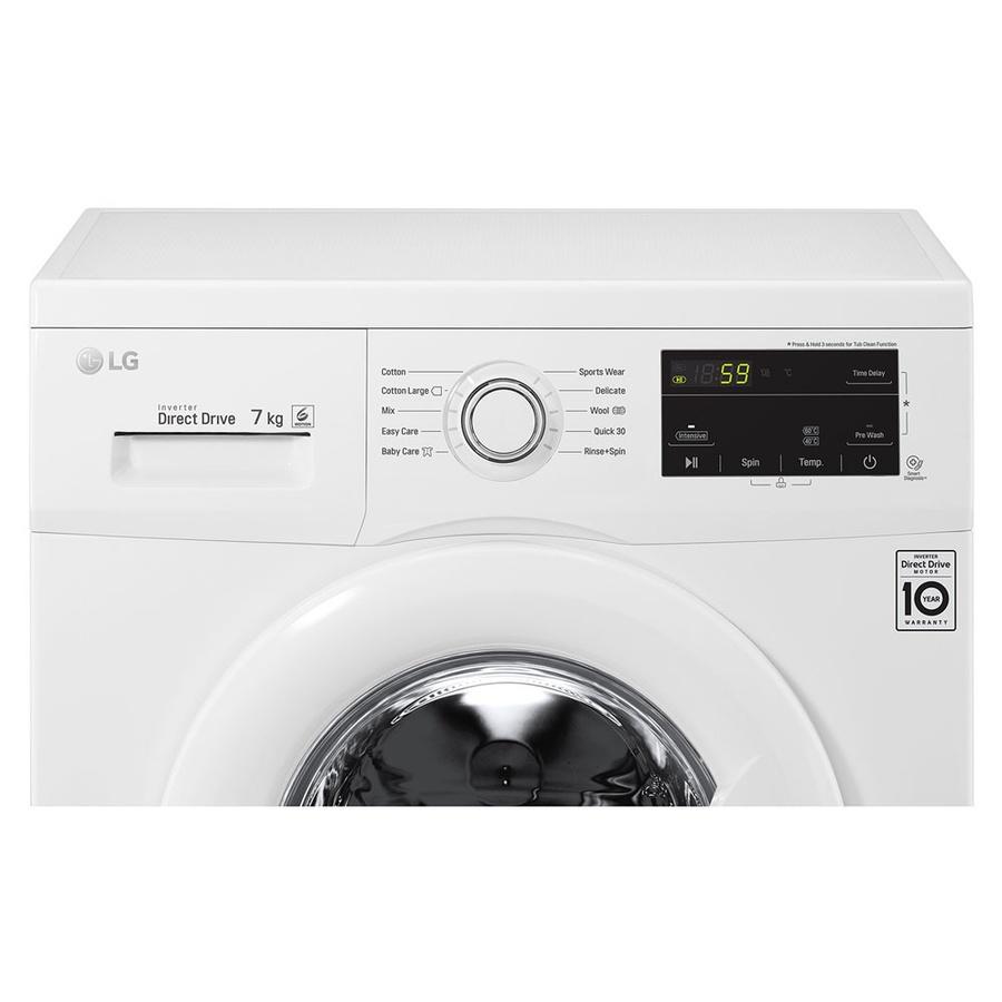 LG เครื่องซักผ้าฝาหน้า 7 กก. FM1207N6W สีขาว