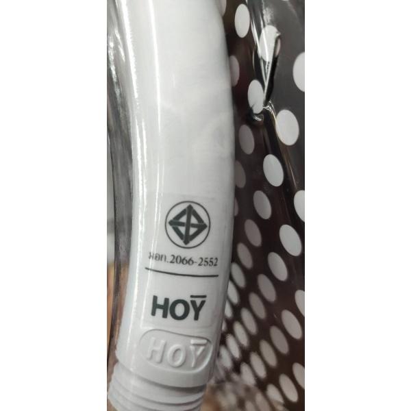 HOY ฝักบัวด้ามโค้ง 2.1/2นิ้ว สาย 1.2 พลาสติก FJHOF-116BWZ สีขาว