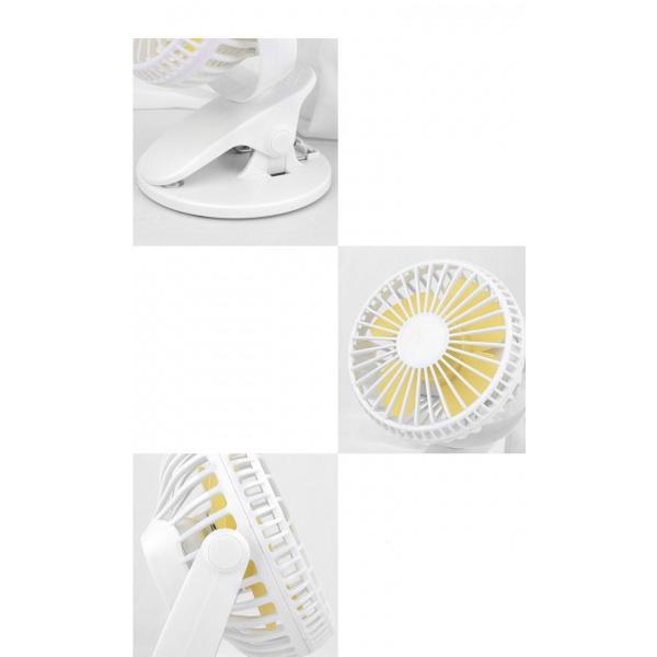 KOJI พัดลมพกพา มีที่หนีบ ขนาด 13x12x17 cm.  X4-WH  สีขาว