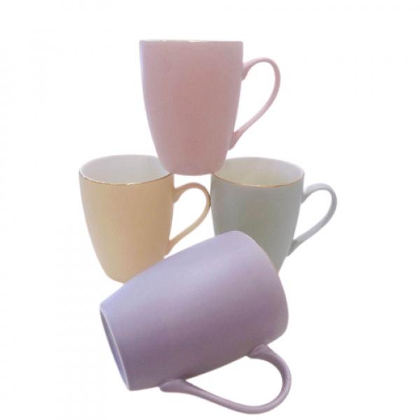 AILO แก้วเซรามิค 10.5cm.  SWEETY คละสี สีขาว