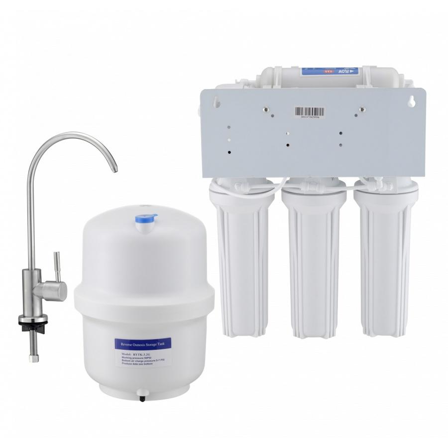 CLOSE เครื่องกรองน้ำดื่ม UV 6 ขั้นตอน RO-50G-7 สีขาว