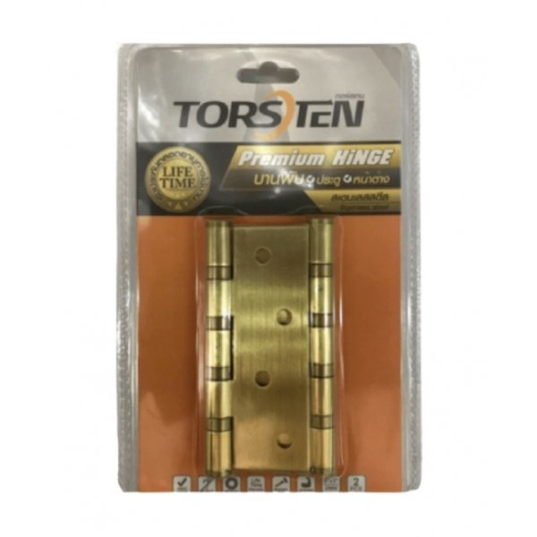 Torsten บานพับสเตนเลส ขนาด 4x3x2mm 2ชิ้น HSS-4320G2 สีทอง