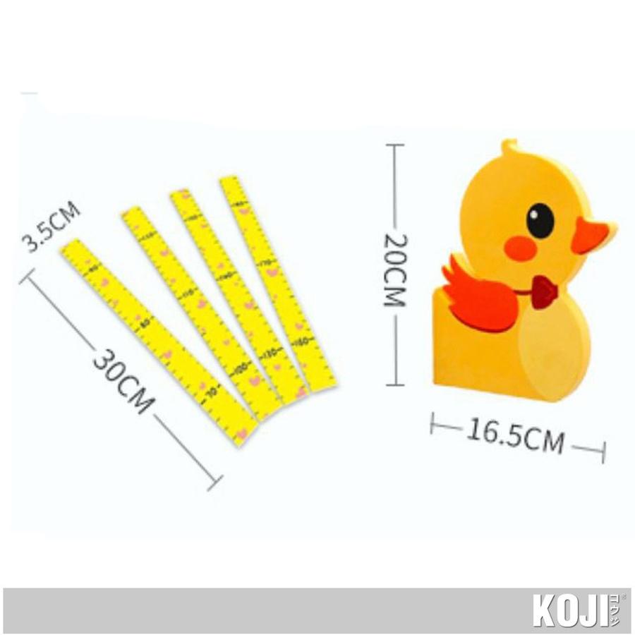 KOJI ที่วัดส่วนสูงแม่เหล็กเป็ดน้อยติดผนัง 3D (65-185 cm.) SK39001G สีเหลือง