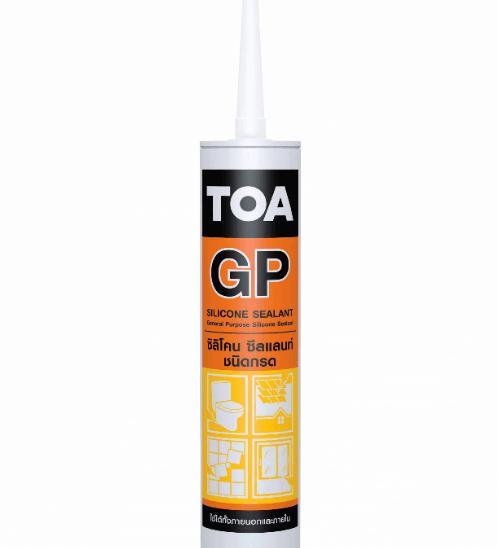 TOA ทีโอเอ ซิลิโคน ซีลแลนท์ (ชนิดกรด) #สีใส TOA Silicone Sealant